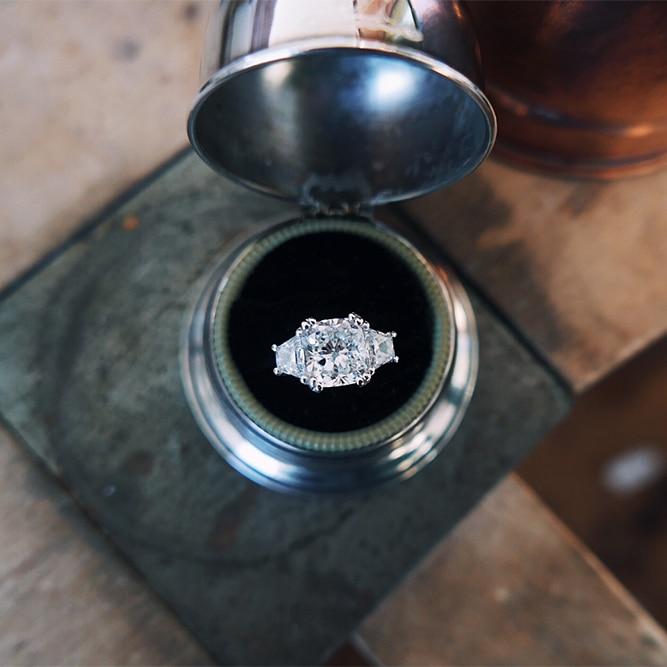 bespoke cushion cut diamond engagement ring